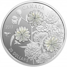 2017 Canadian $20 Pearl Flowers - 1 oz Fine Silver Coin
