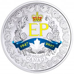 2017 (1947-) Canadian $20 A Platinum Celebration - 1 oz Fine Silver Coin
