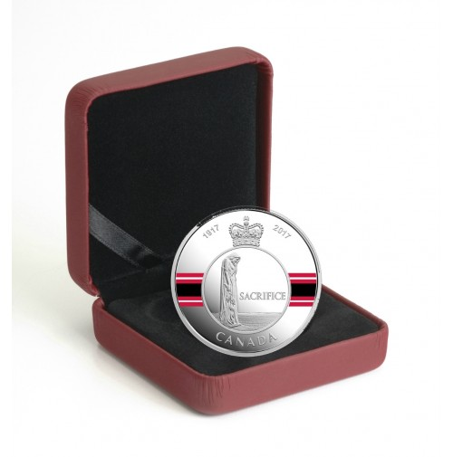 2017 Fine Silver 20 Dollar Coin - Canadian Honours: Sacrifice Medal