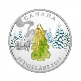 2017 Canada Fine Silver $20 Coin - Snow-Covered Trees