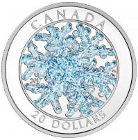 2017 Fine Silver 20 Dollar Coin - Snowflake