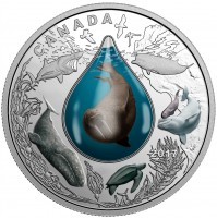 2017 Fine Silver 20 Dollar Coin - Canadian Underwater Life