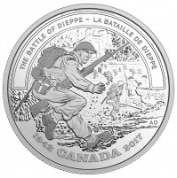 2017 Fine Silver 20 Dollar Coin - Second World War Battlefront: The Battle of Dieppe