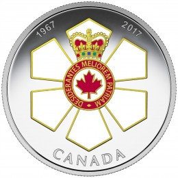 2017 Canada Fine Silver $20 Coin - Canadian Honours: 50th Anniversary of the Order of Canada