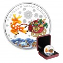 2018 Fine Silver 20 Dollar Coin - Murano Holiday Reindeer (Coloured)