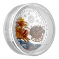2018 Canada Fine Silver $20 Coin - Murano Holiday Reindeer (Coloured)
