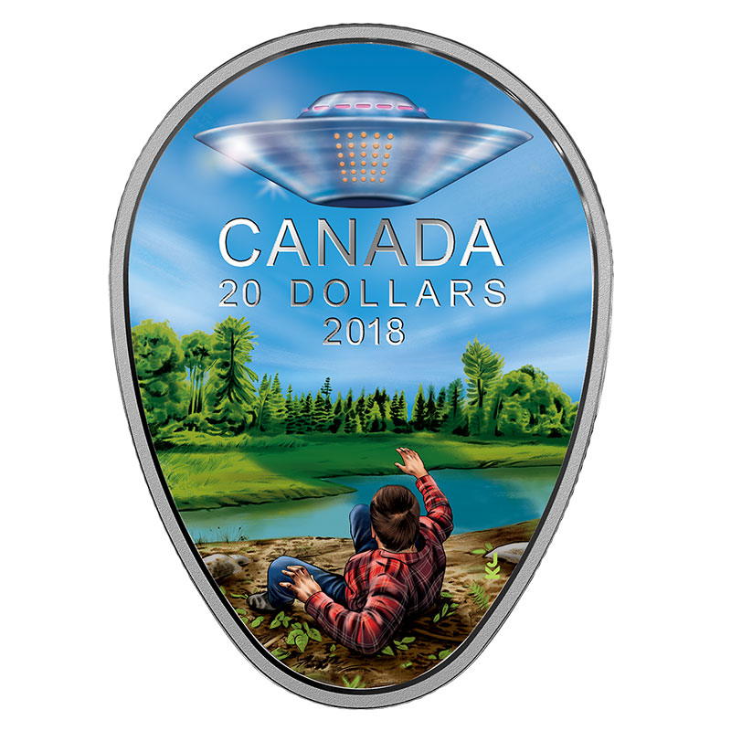 2018 Canadian 20 The Falcon Lake Ufo Incident 1 Oz Fine