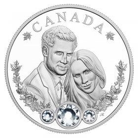 2018 Canadian $20 Royal Wedding HRH Prince Harry & Ms Meghan Markle 1 oz Fine Silver Coin