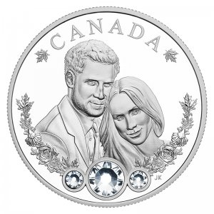 2018 Canadian $20 Royal Wedding HRH Prince Harry & Ms Meghan Markle 1 oz Fine Silver Coin