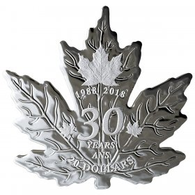 2018 (1988-) Canadian $20 30th Anniversary of the Silver Maple Leaf - 1 oz Fine Silver Coin