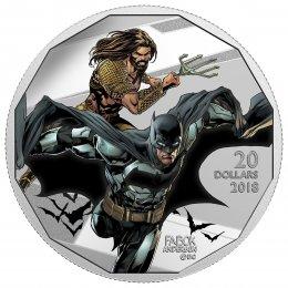 2018 Canadian $20 The Justice League: Batman and Aquaman - 1 oz Fine Silver Coin