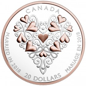 2018 Canadian $20 Best Wishes On Your Wedding Day - 1 oz Fine Silver Coin