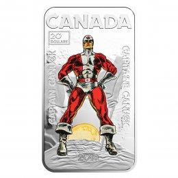 2018 Canadian $20 Captain Canuck - 1 oz Fine Silver Coin