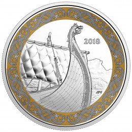 2018 Canada Fine Silver $20 Coin - Norse Figureheads: The Dragon's Sail