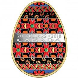 2018 Canada Fine Silver $20 Coin - Golden Spring Pysanka