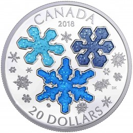 2018 Canada Fine Silver $20 Coin - Ice Crystals