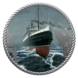 2018 Canadian $20 The Sinking of the SS Princess Sophia 1 oz Fine Silver Coin