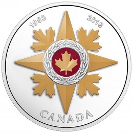 2018 Canada Fine Silver $20 Coin - Canadian Honours: 25th Anniversary of the Star of Military Valour