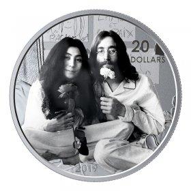 2019 Canadian $20 Give Peace A Chance / John Lennon Yoko Ono 50th Anniv 1 oz Silver Coin