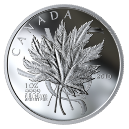 2019 Canadian $20 The Beloved Maple Leaf - 1 oz Fine Silver Coin