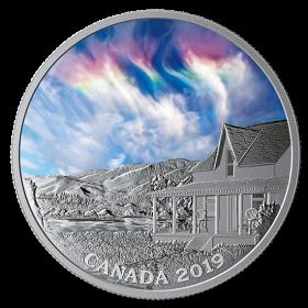 2019 Canadian $20 Sky Wonders: Fire Rainbow - 1 oz Fine Silver Coloured Coin