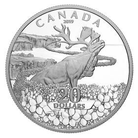 2019 Canadian $20 Forget-Me-Not - 1 oz Fine Silver Coin