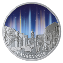 2019 Canadian $20 Sky Wonders: Light Pillars - 1 oz Fine Silver Coloured Coin