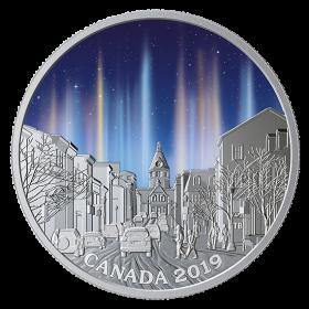 2019 Canadian $20 Sky Wonders: Light Pillars - 1 oz Fine Silver Coloured Coin