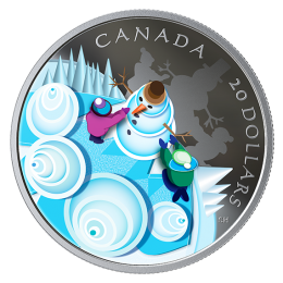 2019 Canadian $20 Mystical Snow Day - 1 oz Fine Silver Coin