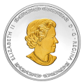 2019 Canadian $20 Norse Gods: Frigg - 1 oz Fine Silver Gold-plated Coin