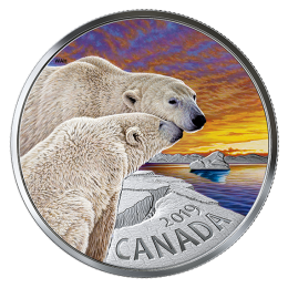 2019 Canadian $20 The Polar Bear: Canadian Fauna - 1 oz Fine Silver Coin