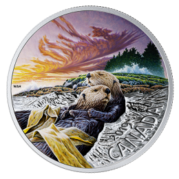 2019 Canadian $20 The Sea Otter: Canadian Fauna - 1 oz Fine Silver Coin