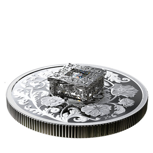 2019 Canadian $20 Sparkle of the Heart - Fine Silver Coin with Fire and Ice™ Canadian Diamond
