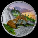 2019 Canadian $20 The Fox: Canadian Fauna - 1 oz Fine Silver Coloured Coin