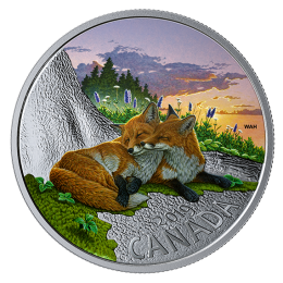 2019 Canadian $20 The Fox: Canadian Fauna - 1 oz Fine Silver Coloured Coin