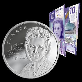 2019 Canadian $20 Viola Desmond - Fine Silver Coin & $10 Bank Note Set