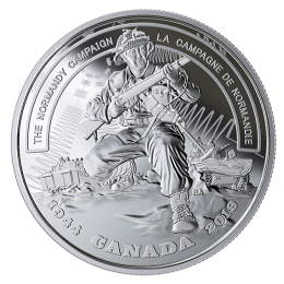 2019 (1944-) Canadian $20 Second World War Battlefront Series: The Normandy Campaign - 1 oz Fine Silver Coin