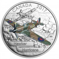 2017 Fine Silver 20 Dollar Coin - Aircraft of The Second World War: Hawker Hurricane
