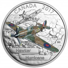 2017 Canada Fine Silver $20 Coin - Aircraft of The Second World War: Hawker Hurricane