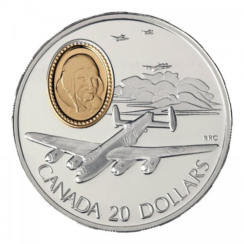 1990 Canadian $20 Aviation Series I: Avro Lancaster Sterling Silver Coin (Coin 2 of 10)