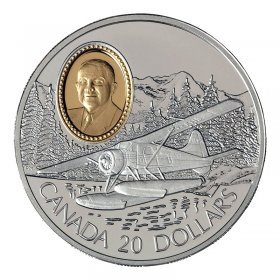 1991 Canadian $20 Aviation Series I: de Havilland Beaver Sterling Silver Coin (Coin 4 of 10)