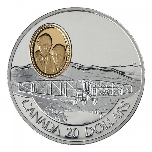 1991 Canadian $20 Aviation Series I: AEA Silver Dart Sterling Silver Coin (Coin 3 of 10)