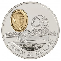 1993 Canada Sterling Silver $20 Coin - Aviation Series: Fairchild 71c (Coin 7 of 10)