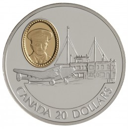 1993 Canada Sterling Silver $20 Coin - Aviation Series: Lockheed 14 Super Electra (Coin 8 of 10)