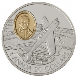 1995 Canada Sterling Silver $20 Coin - Aviation Series: DHC-1 Chipmunk (Coin 2 of 10)