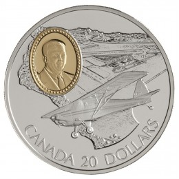 1995 Canada Sterling Silver $20 Coin - Aviation Series: Fleet 80 Canuck (Coin 1 of 10)