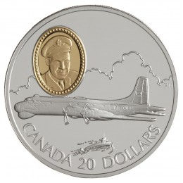 1998 Canada Sterling Silver $20 Coin - Aviation Series: Canadair CP-107 Argus (Coin 7 of 10)