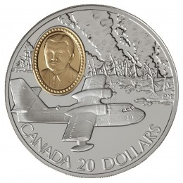 1998 Canada Sterling Silver $20 Coin - Aviation Series: Canadair CL-215 Waterbomber (Coin 8 of 10)