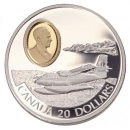 1999 Canada Sterling Silver $20 Coin - Aviation Series: de Havilland DHC-6 Twin Otter (Coin 9 of 10)