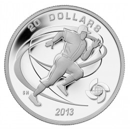 2013 Canadian $20 Celebrate Baseball: Runner - 1 oz Fine Silver Coin
